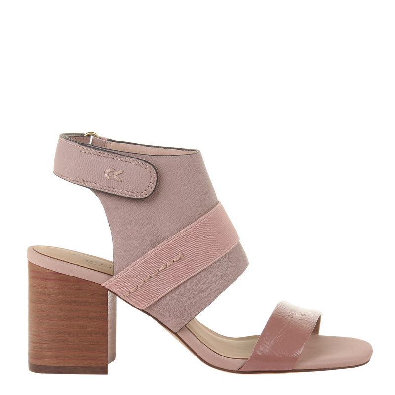 Womens heel sandal Fresca in mauve right