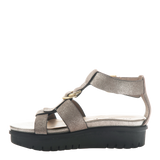 Womens sandal Hadar in Grey Pewter left