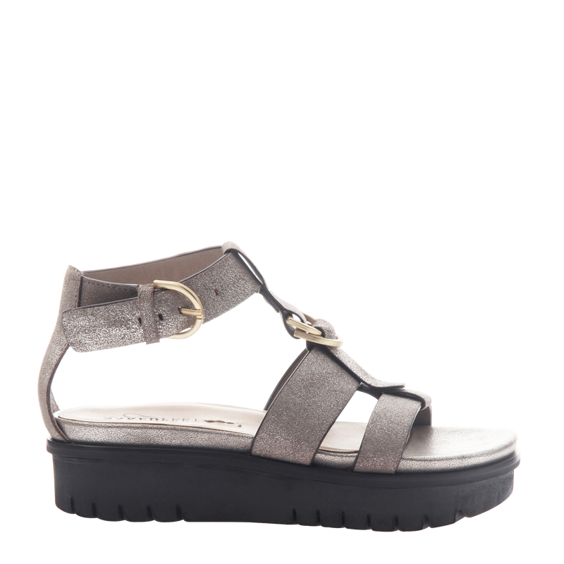 Womens sandal Hadar in Grey Pewter Right