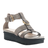 Womens sandal Hadar in Grey Pewter