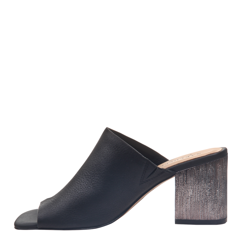 Womens Heel Harissa in Black left