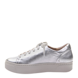 Womens sneaker Helixx in Silver Left
