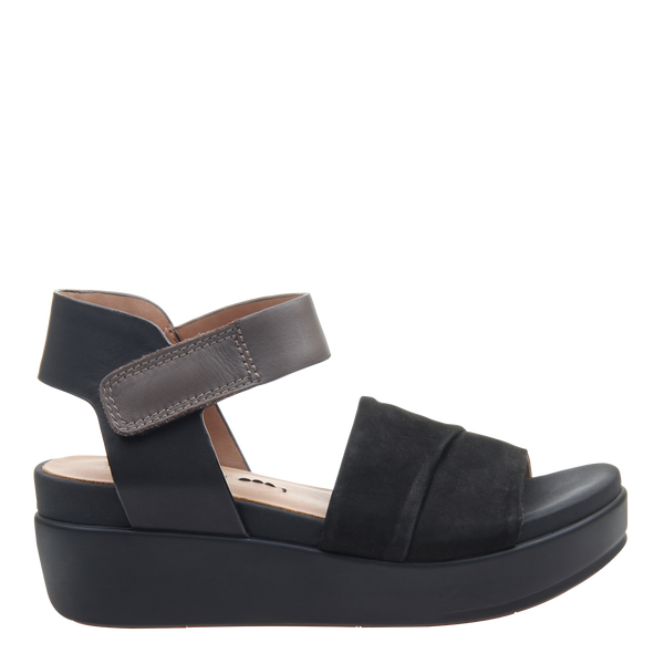 Womens sandal Koda in black right