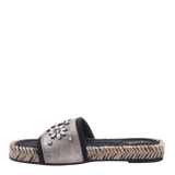 Womens sandal Koyo in grey silver left