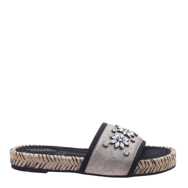 Womens sandal Koyo in grey silver right