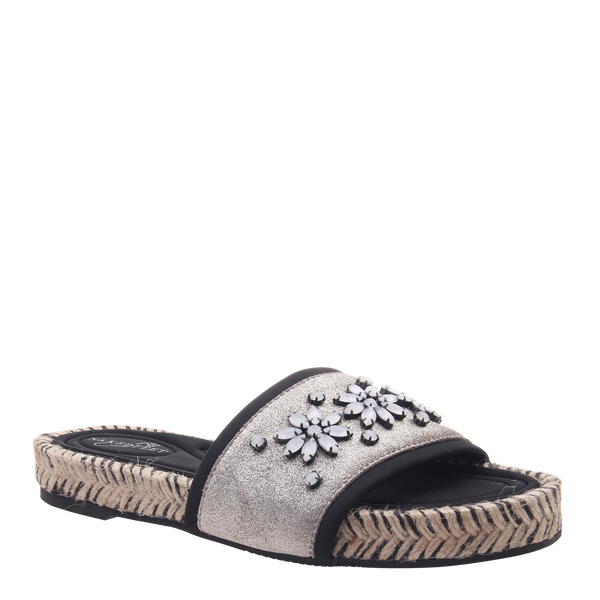 Womens sandal Koyo in grey silver