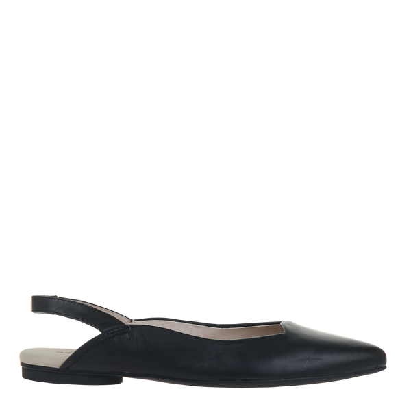 Womens flat leva in black right