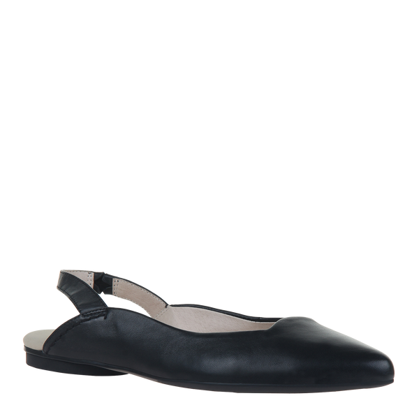 Womens flat leva in black