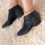CHI in BLACK COMBO Ankle Boots
