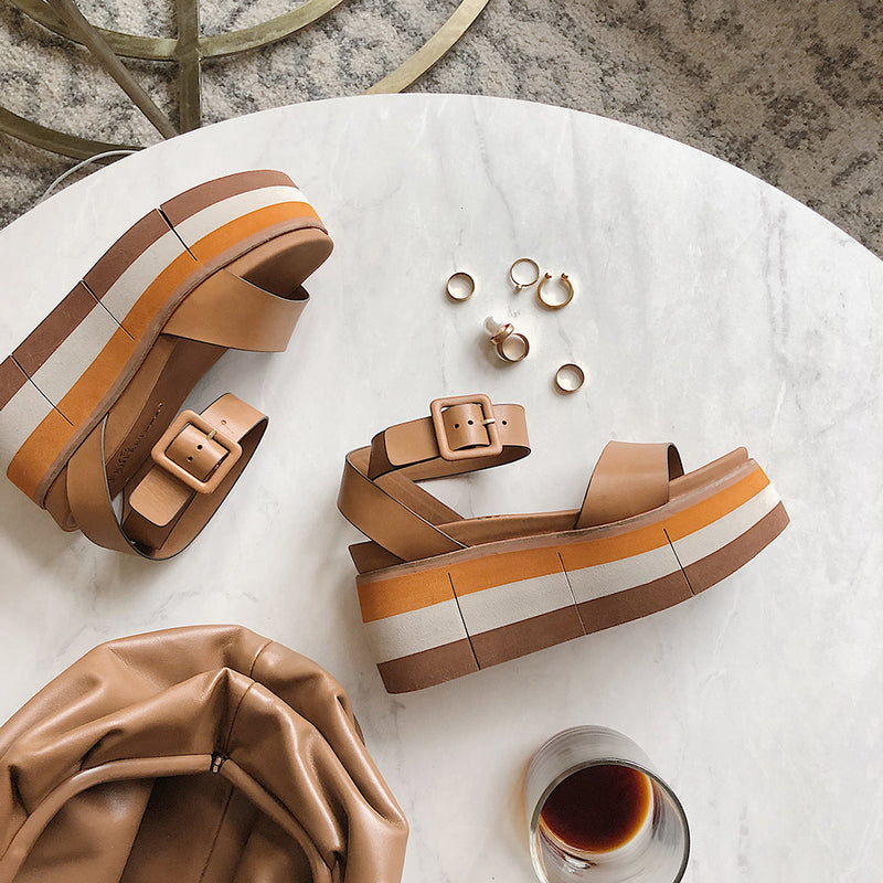ALTEZZA in BOXWOOD Wedge Sandals