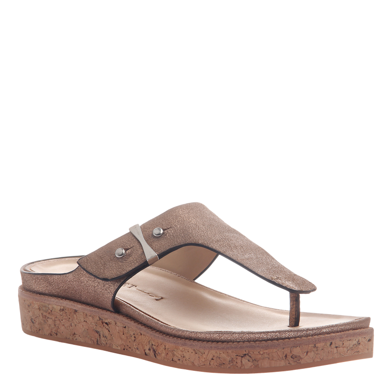 Hadidd flat women's sandal in copper
