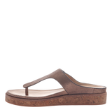 Hadidd flat women's sandal in copper inside view