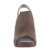 Columba womens wedge sandal in otter front view