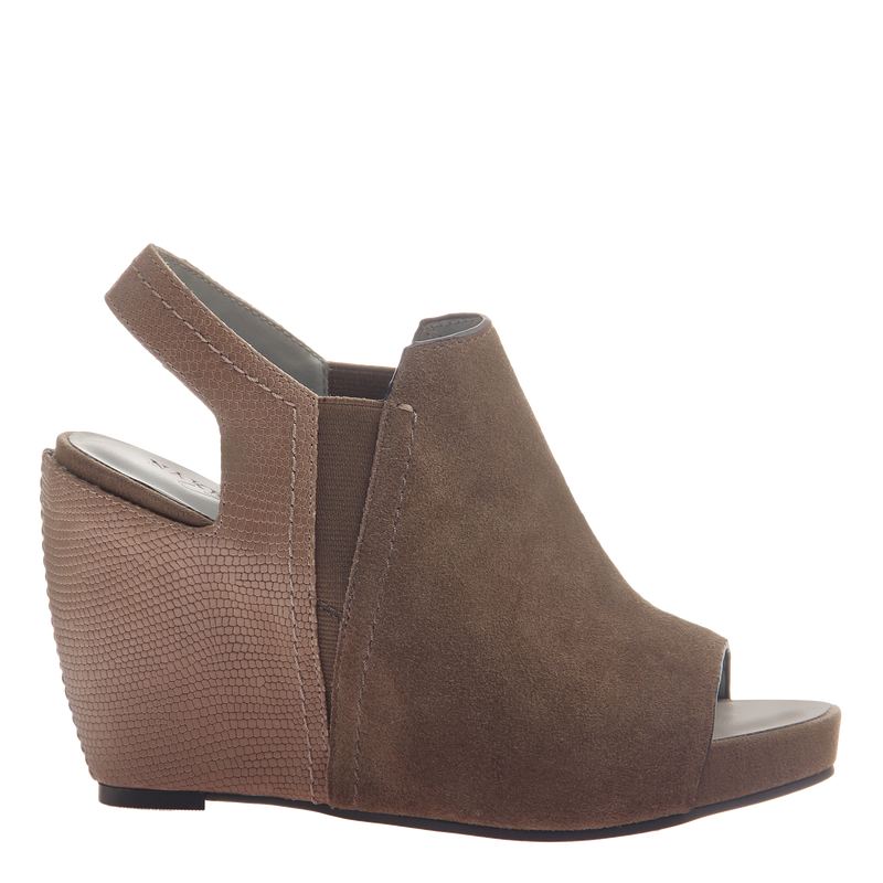 Columba womens wedge sandal in otter side view
