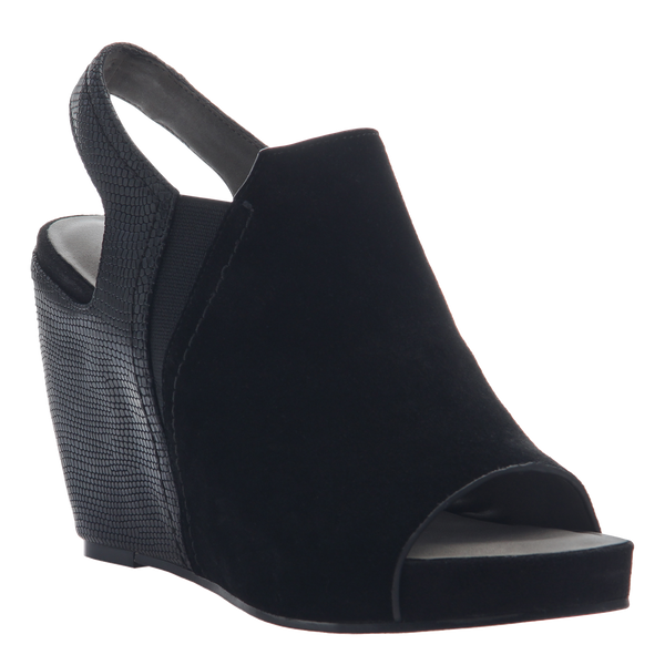 Columba women's wedge sandals in black