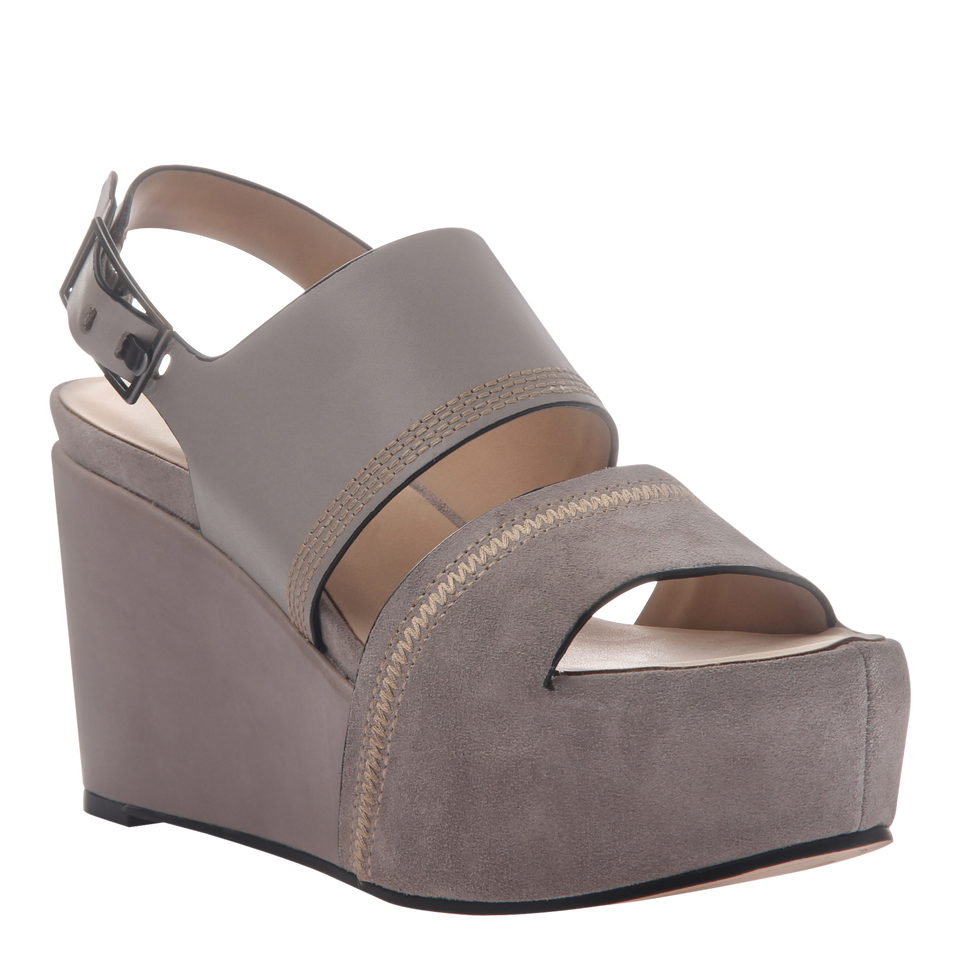 Naked Feet Mallow women's platform wedge in grey