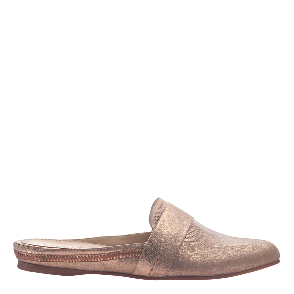 Naked Feet women's flat Thyme in copper side view