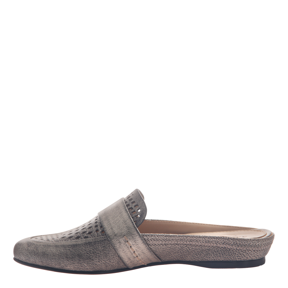 Naked Feet women's flat Thyme in Light Pewter inside view