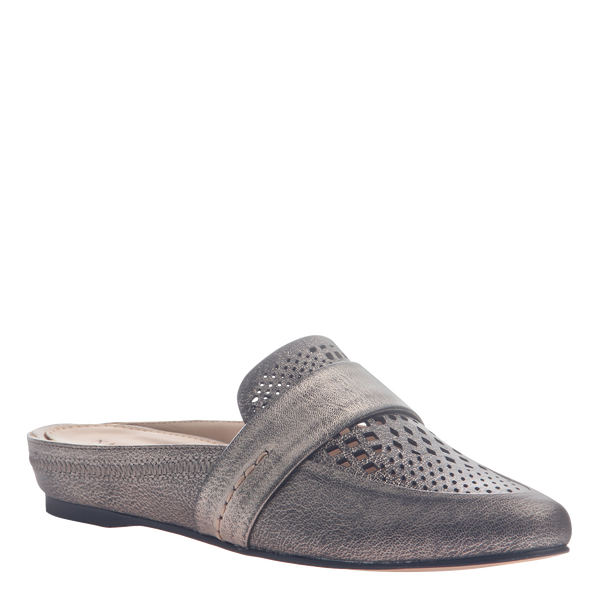 Naked Feet women's flat Thyme in Light Pewter