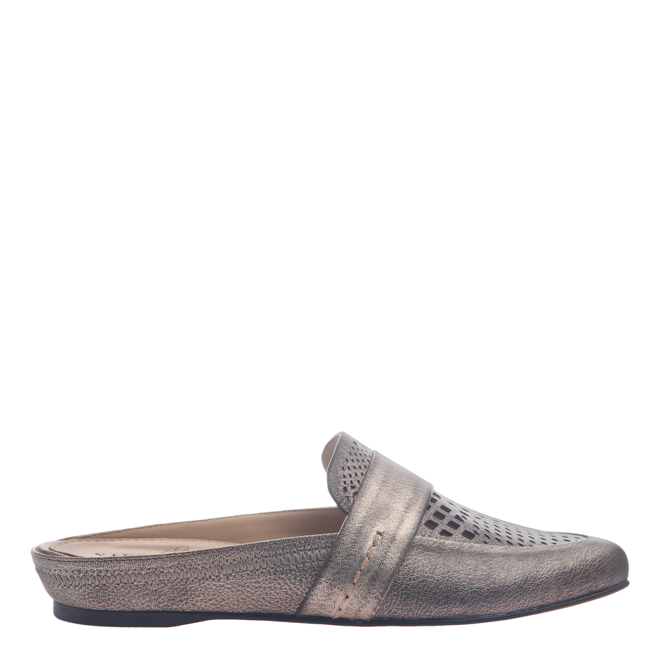 Naked Feet women's flat Thyme in Light Pewter side view