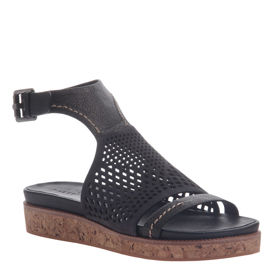 Naked Feet women's sandal Aries in black