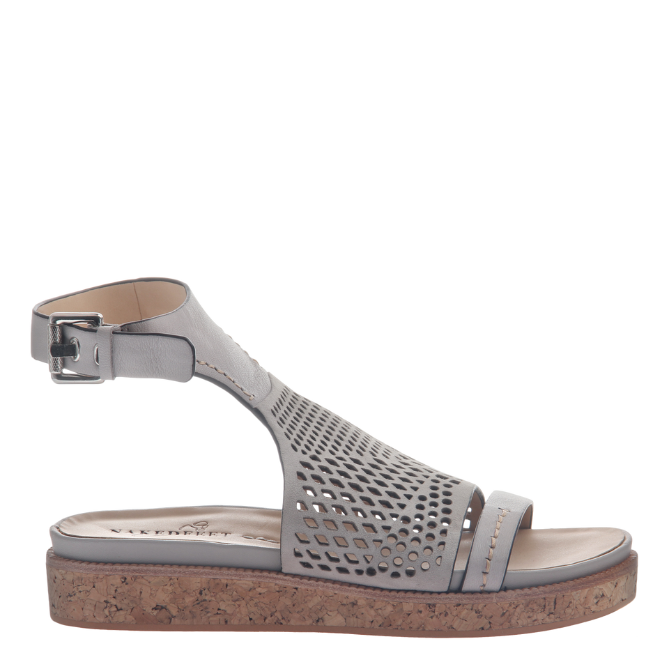 Naked Feet women's sandal aries in cloudburst side view