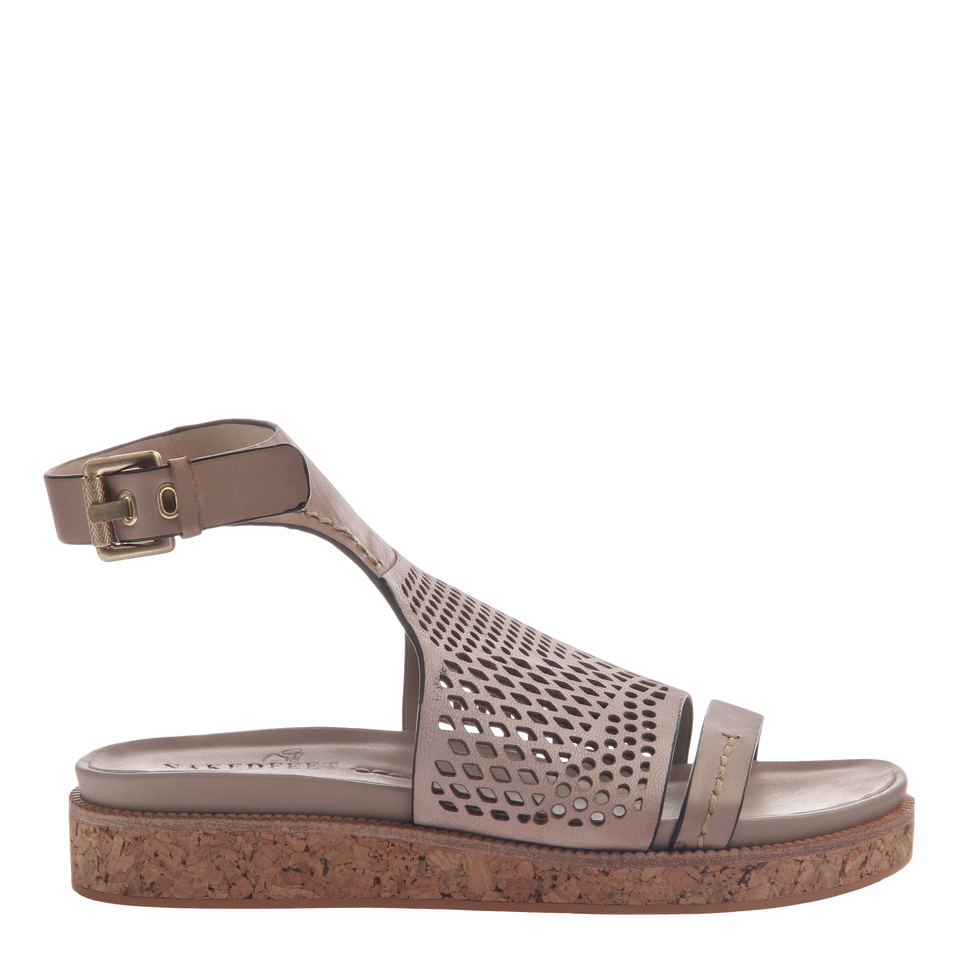 Naked Feet women's sandal aries in mid taupe side view