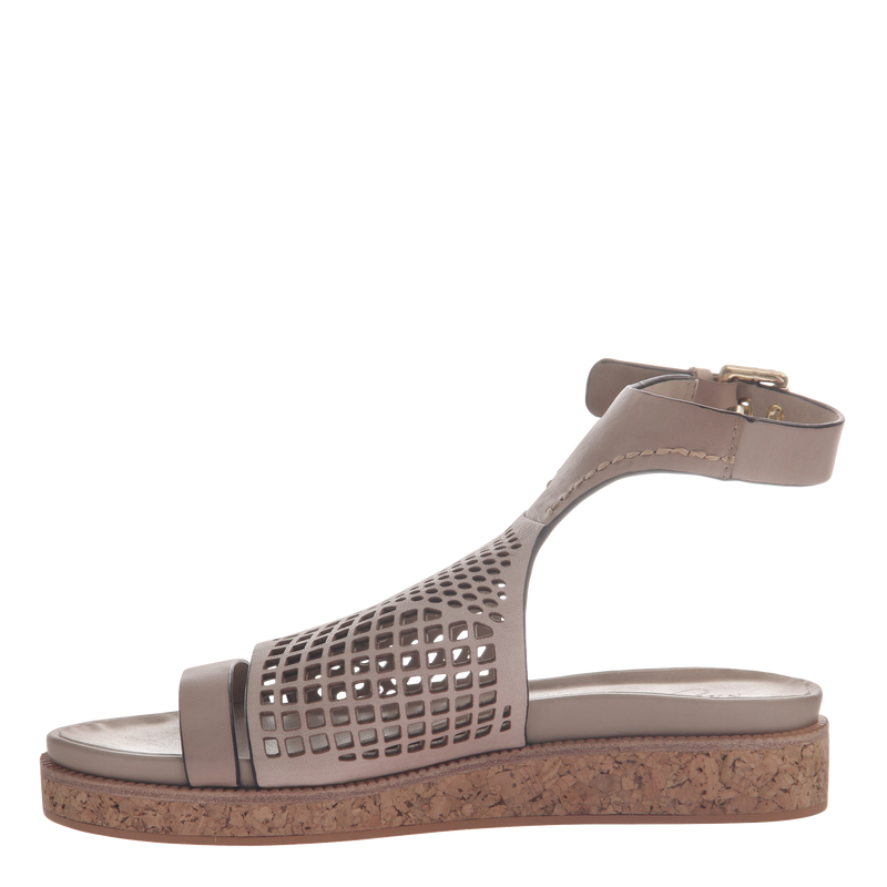 Naked Feet women's sandal aries in mid taupe inside view