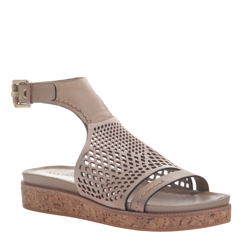Naked Feet women's sandal aries in mid taupe