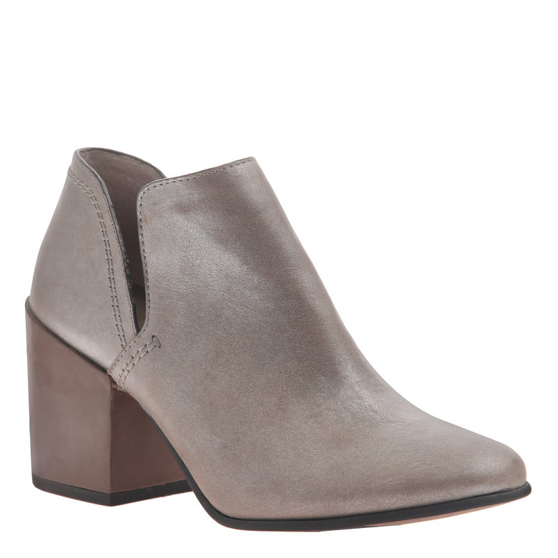 Naked Feet women's heeled ankle boot Hedley in cloudburst