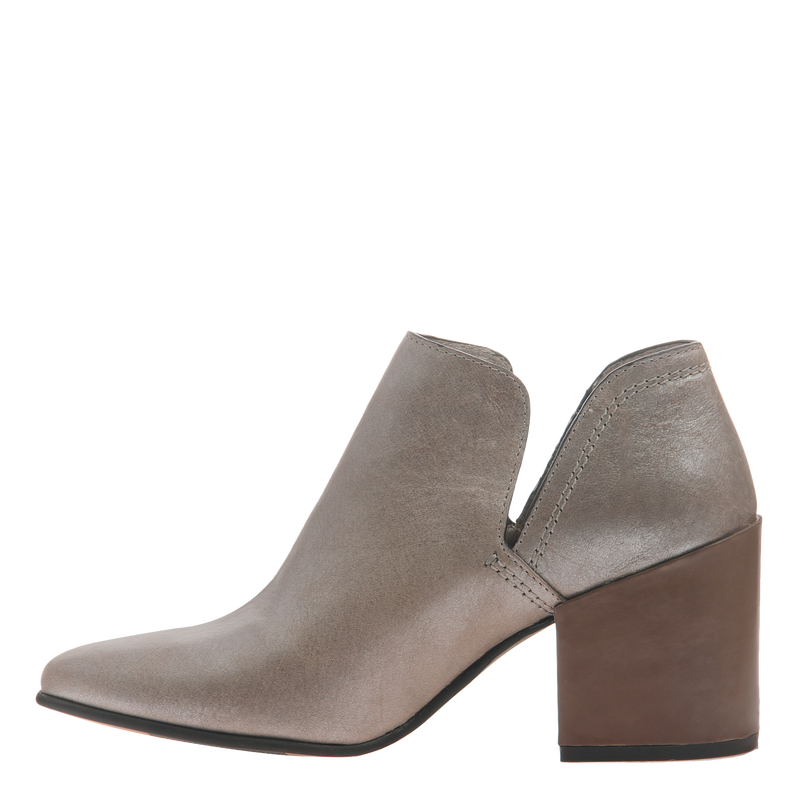 Naked Feet women's heeled ankle boot Hedley in cloudburst inside view
