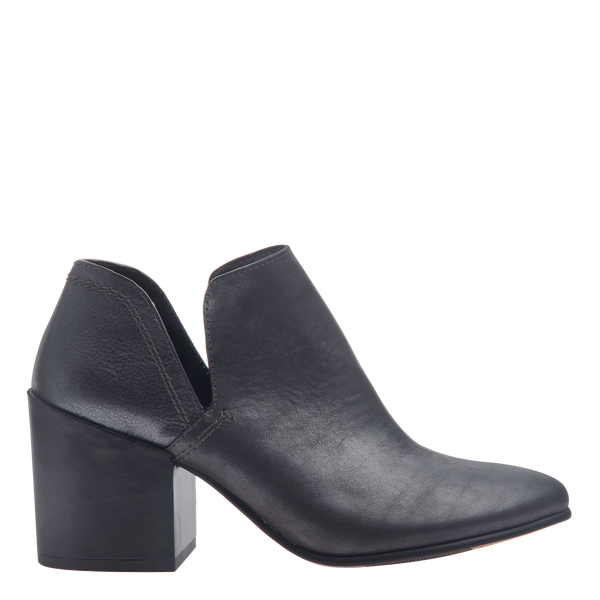 Naked Feet women's heeled ankle boots Hedley in Forest side view