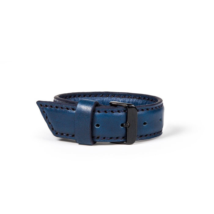 The Vacation (L) - Horween Navy Blue Pebbled Essex - Lajoie