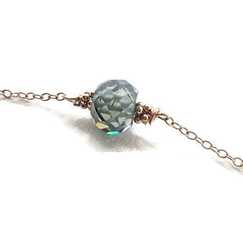 Sky Blue Diamond Choker Necklace