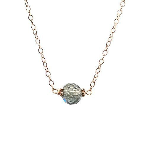 2.3 Carat Blue Diamond Necklace ~ 14k Rose Gold - Van Der Muffin's Jewels