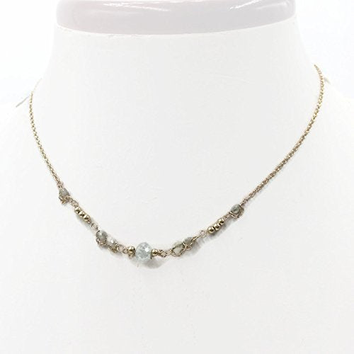 14K Delicate Diamond Necklace - Van Der Muffin's Jewels