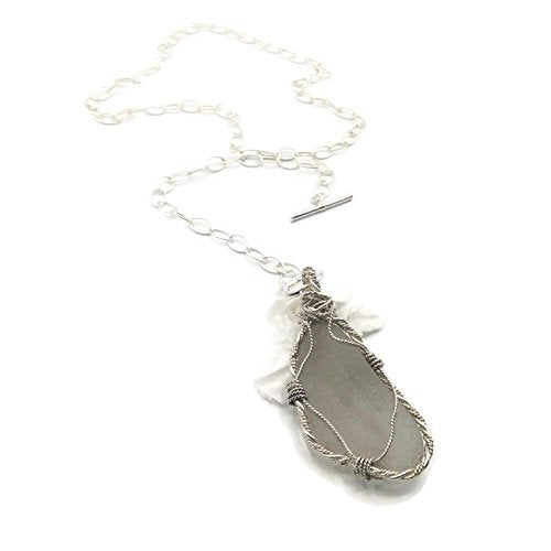 Bohemian Frosted Sea Glass Necklace