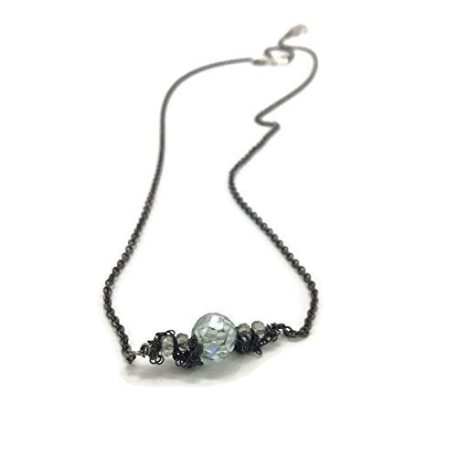 Ice Blue Fringed Diamond Necklace