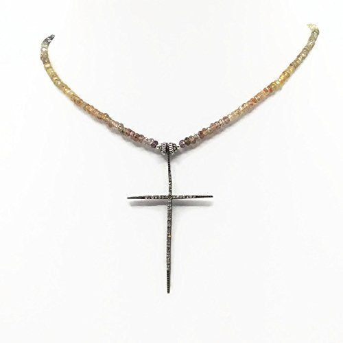 cross necklace diamond tiny en gold listing il sg chains