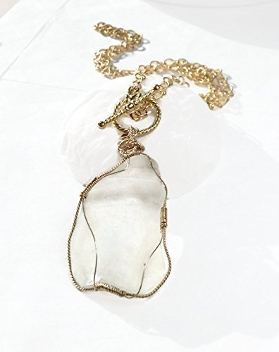 Frosted Sea Glass Toggle Necklace - Van Der Muffin's Jewels