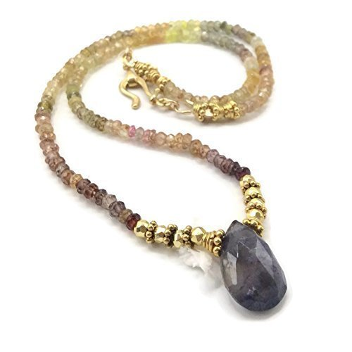 Iolite Gemstone Choker Necklace