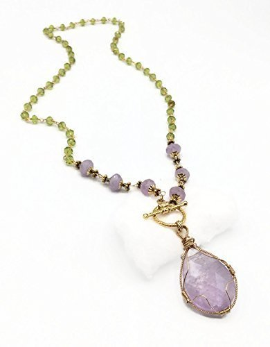 Lilac Amethyst 'Celebration' Pendant Necklace