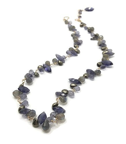 Royal Purple Gemstone Cluster Necklace