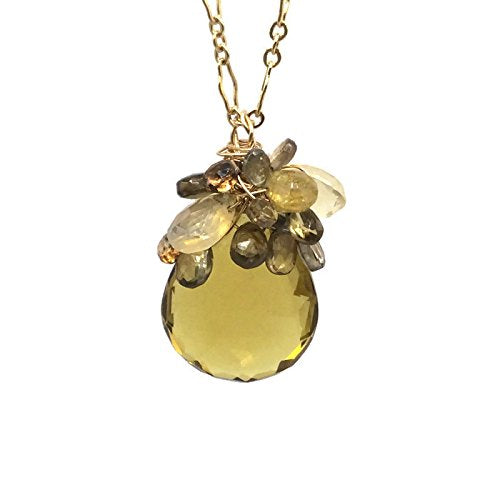 Yellow Topaz Celebration Pendant Necklace - Van Der Muffin's Jewels