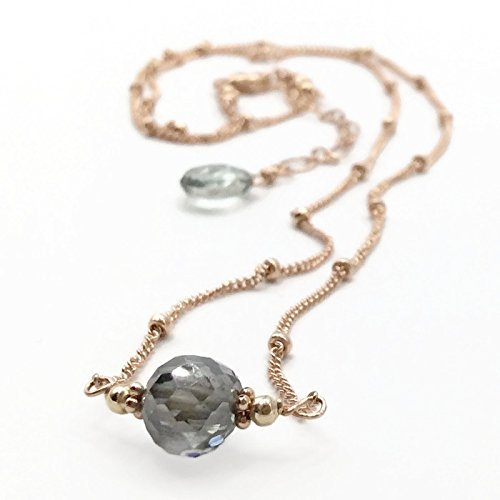 2.0 Carat Sky Blue Diamond Necklace
