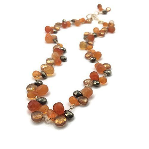 * 'Hermes Orange' Gemstone Cluster Necklace