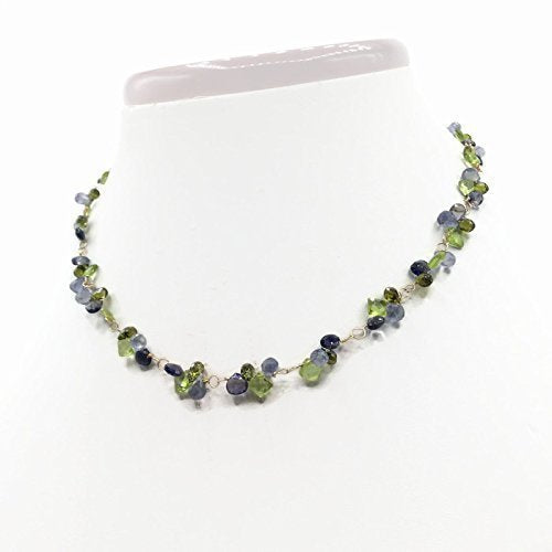 Summer Blooms Gemstone Cluster Necklace