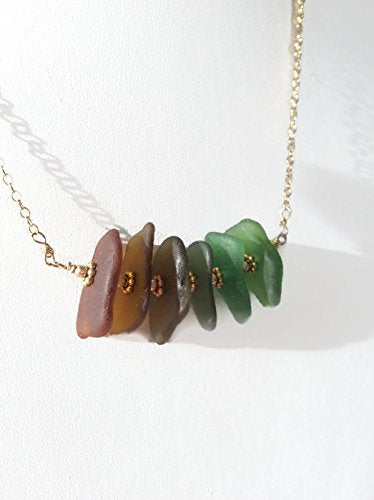 Ombre Sea Glass Necklace