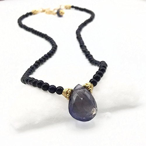 * Iolite Gemstone Choker Necklace