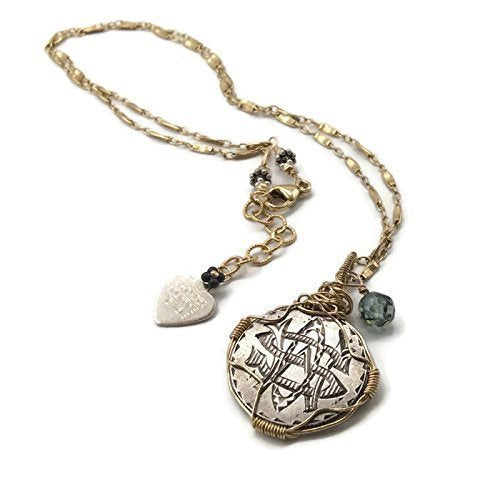 Antique Diamond Love Token Necklace